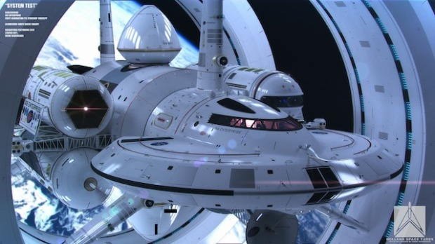 NASA's design for a faster-than-light ship.  Photo credit: Mark Rademaker/NASA