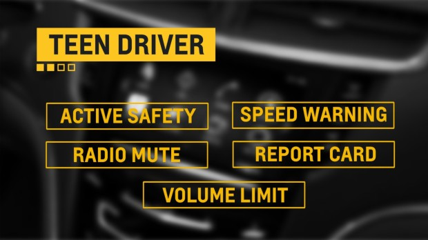 New Teen Driver features. Image copyright General Motors.