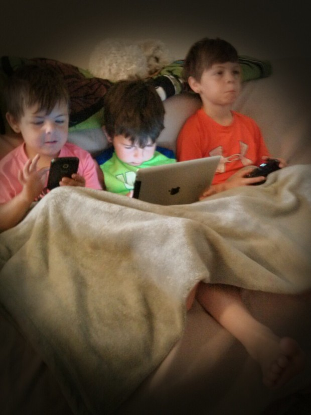 Kids today benefit so much from technology, but sometimes it's important to take a break. Image courtesy of Mireille Hayward of Mimi's Journey to Health.