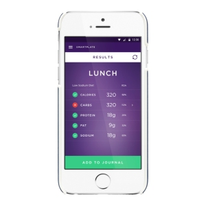 The SmartPlate app. | Image courtesy of Fitly.